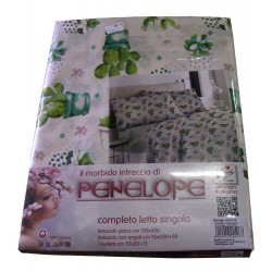 COMPLETO LENZUOLA COTONE CACTUS 474-18 PENELOPE LOVELY HOME
