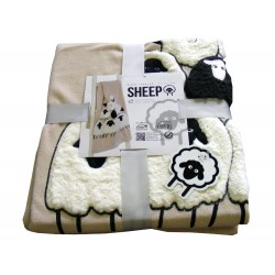 PLAID PILE 130X160CM SHEEP PECORE LOVELY HOME