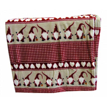 PLAID PILE CON SACCA 125X155CM GNOMI LOVELY HOME