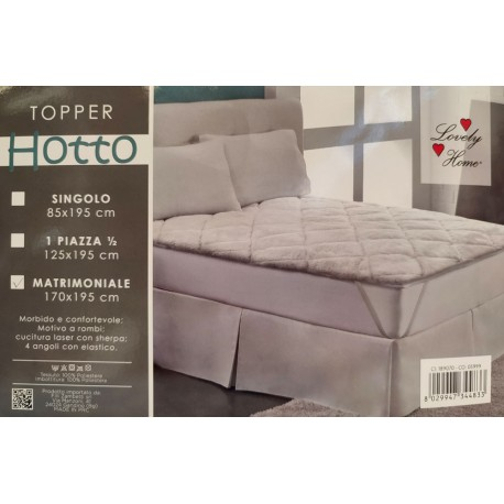 TOPPER MATERASSO MATRIMONIALE SHERPA HOTTO LOVELY HOME